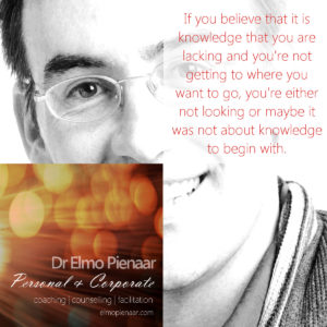 Elmo Pienaar Personal and Corporate Coach, Counsellor, and Facilitator